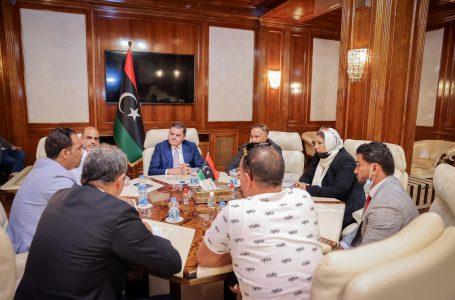 الدبيبة يتعهد بحل المشكلات التي تواجه نادي النصر