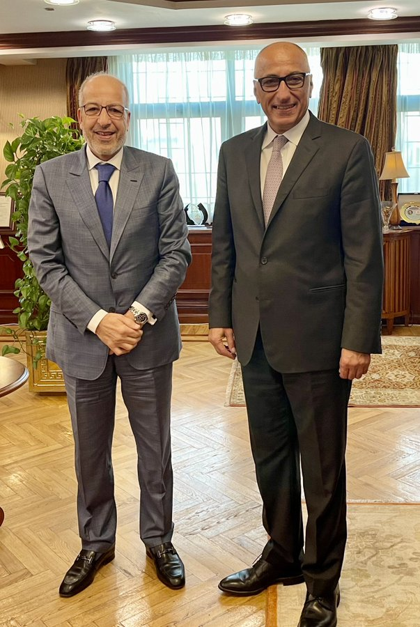 الكبير يناقش مع محافظ البنك المركزي المصري التعاون المصري بين البلدين